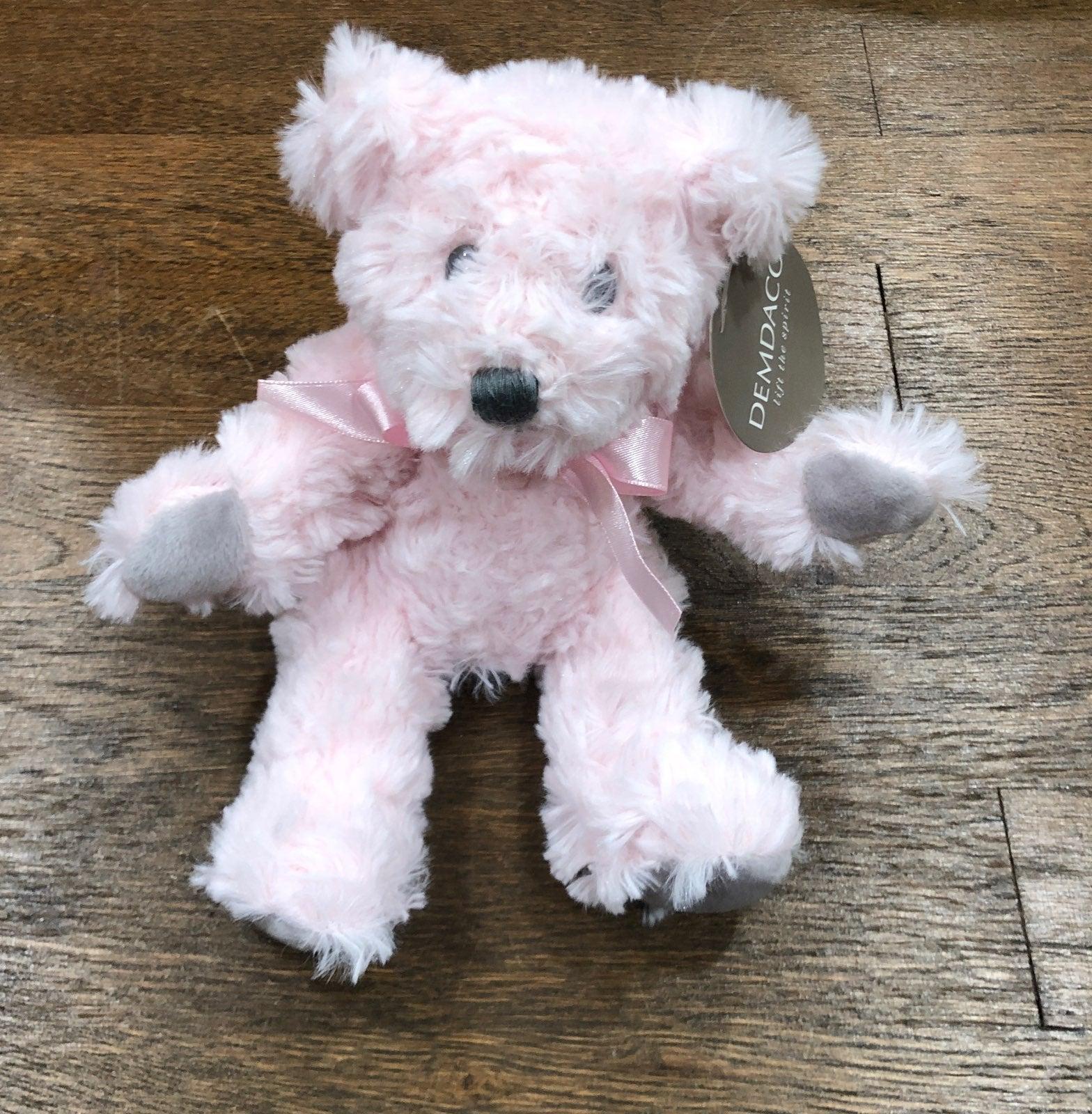 Demdaco pink teddy bear