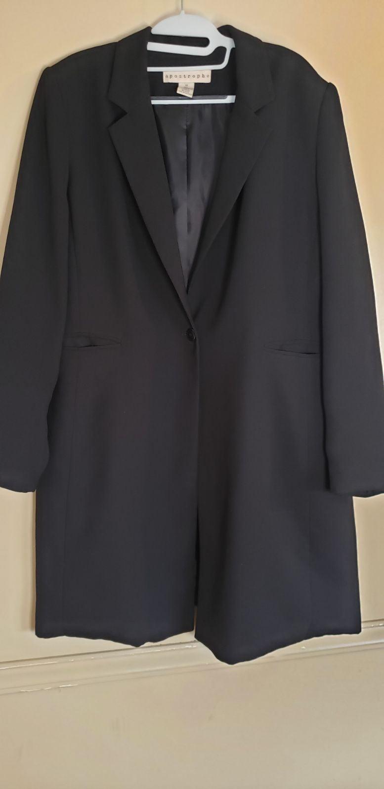 Black Button Up Blazer Jacket