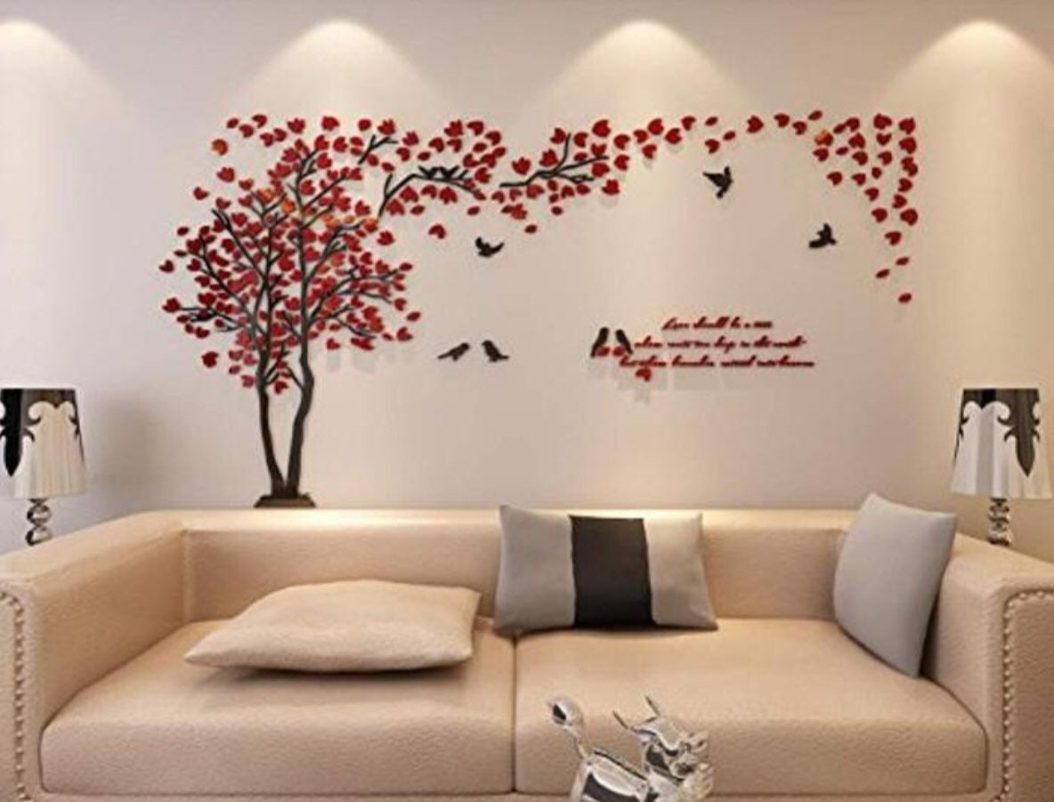 3D Couple Tree Wall Murals