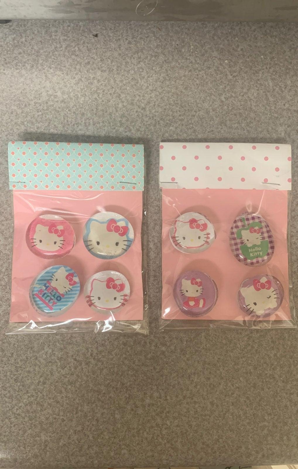 Hello Kitty Handmade Glass Magnets