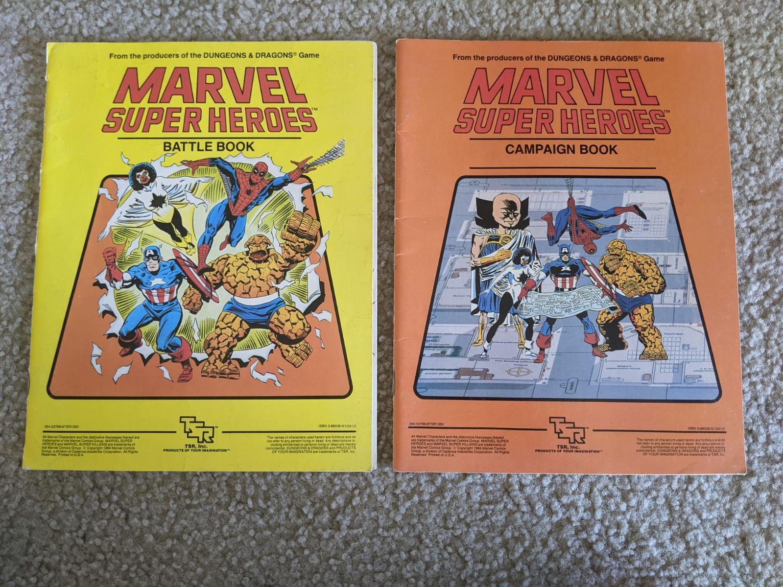 Marvel D&D Battle Campaign Books