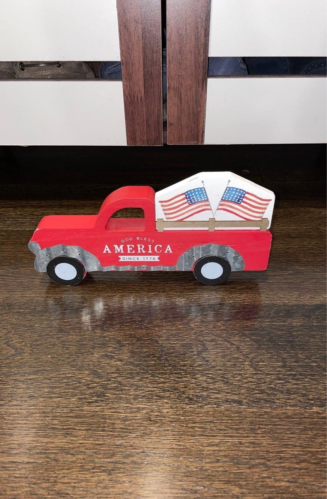 GOD BLESS AMERICA RUSTIC FARM Truck
