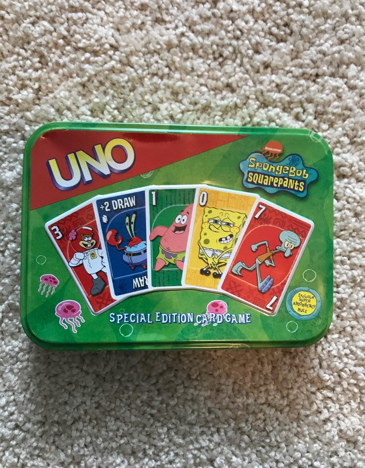 Spongebob Uno Cards