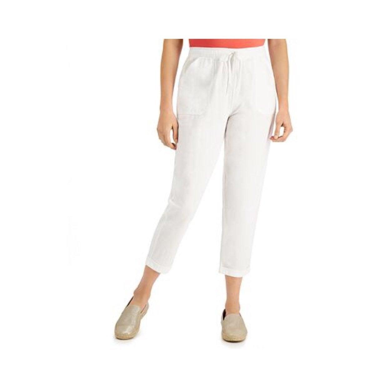 *Karen Scott Cotton Pull-On Capri Pants
