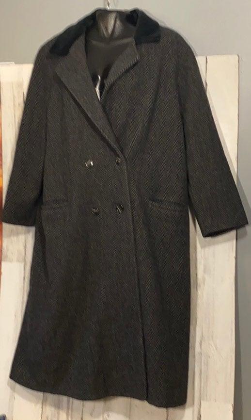 A.Sachs Women's Wool Overcoat L
