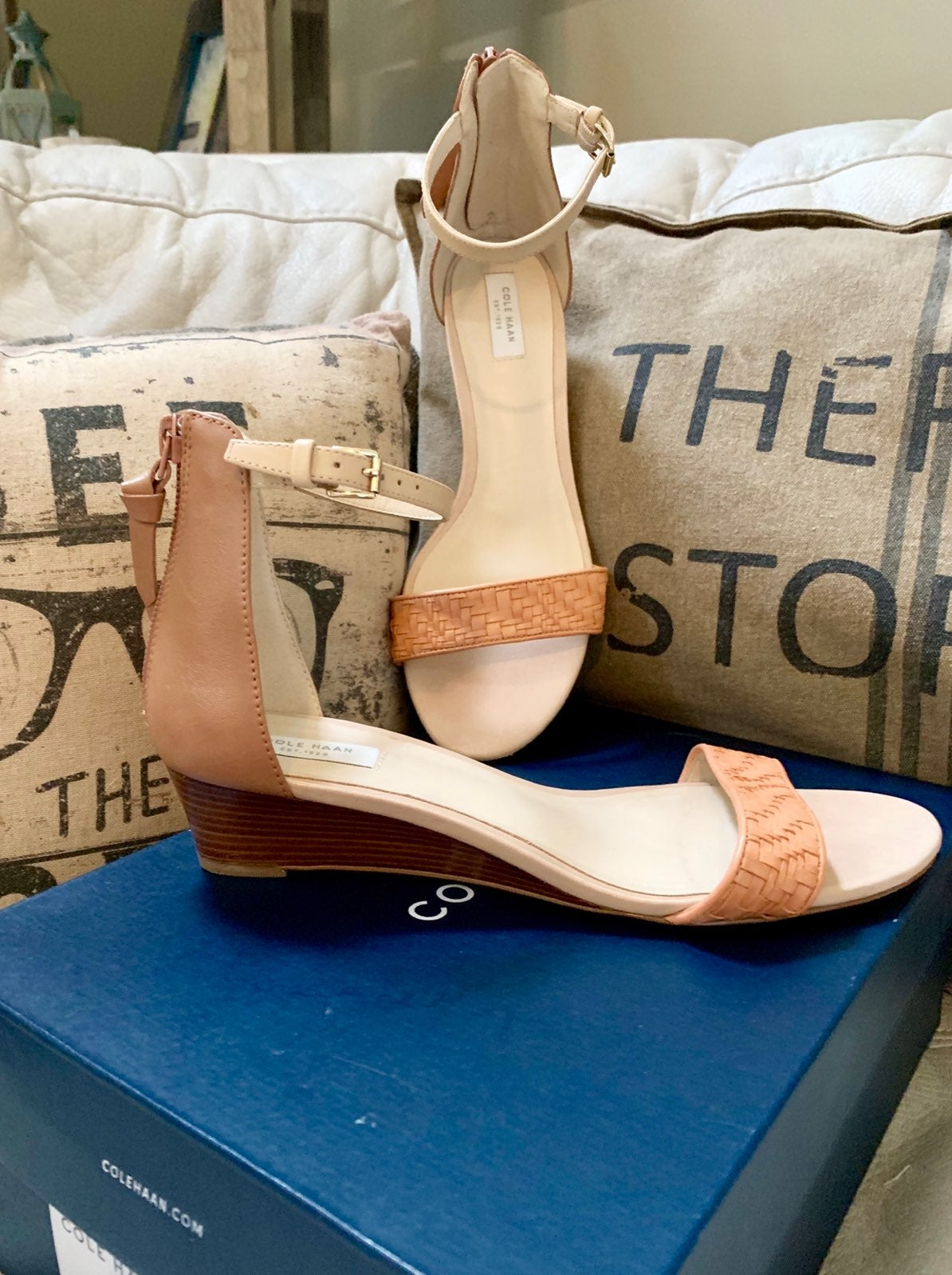 Cole Haan Genevieve Weave Wedge Sandal