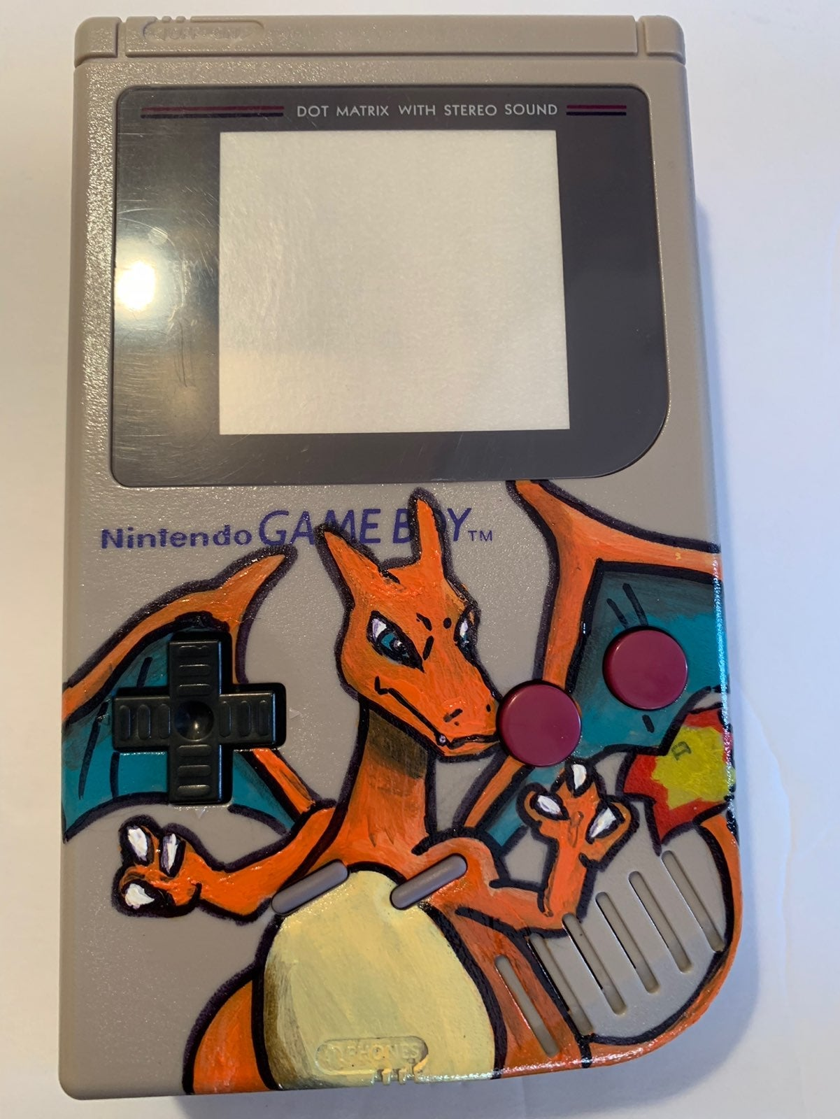 Custom Hand Painted Gameboy Shell