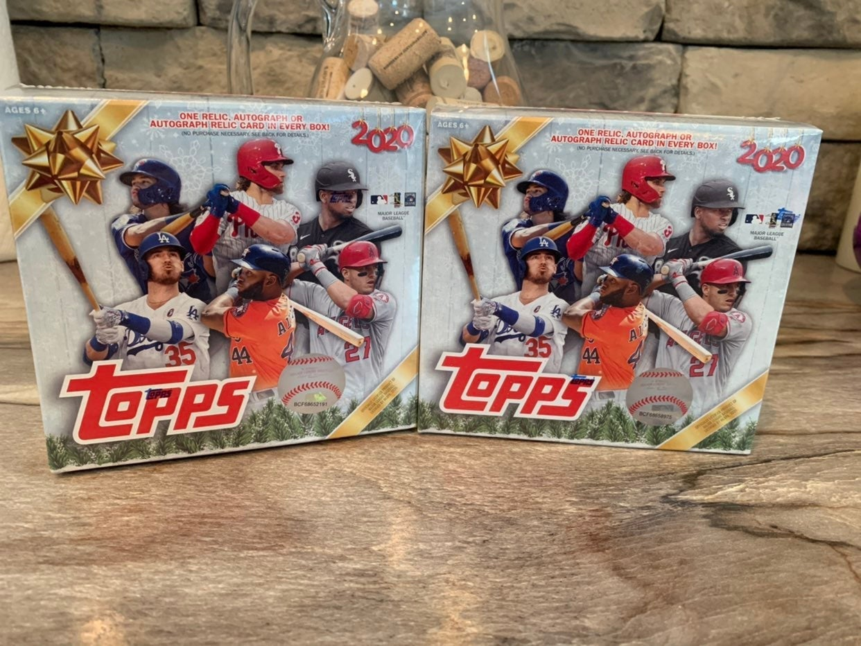 (2) Topps Holiday Baseball Mega Box