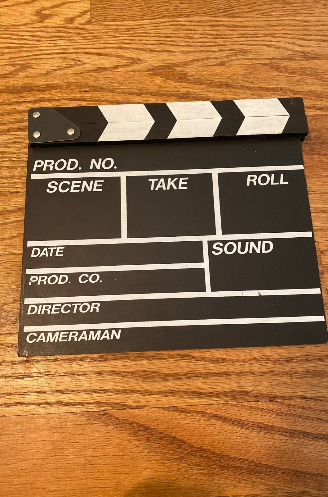 Authentic wooden Clapperboard