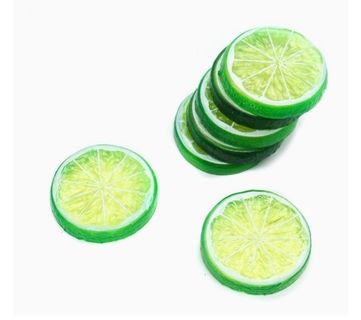 Green artificial lime slices#4