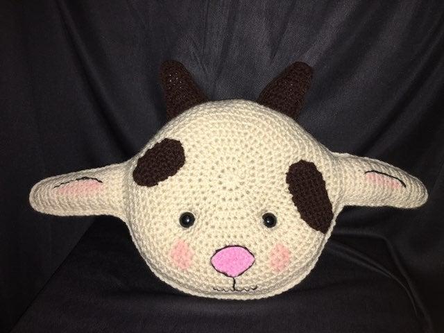 Crocheted Mr. Goat Pillow Pal Cuddler