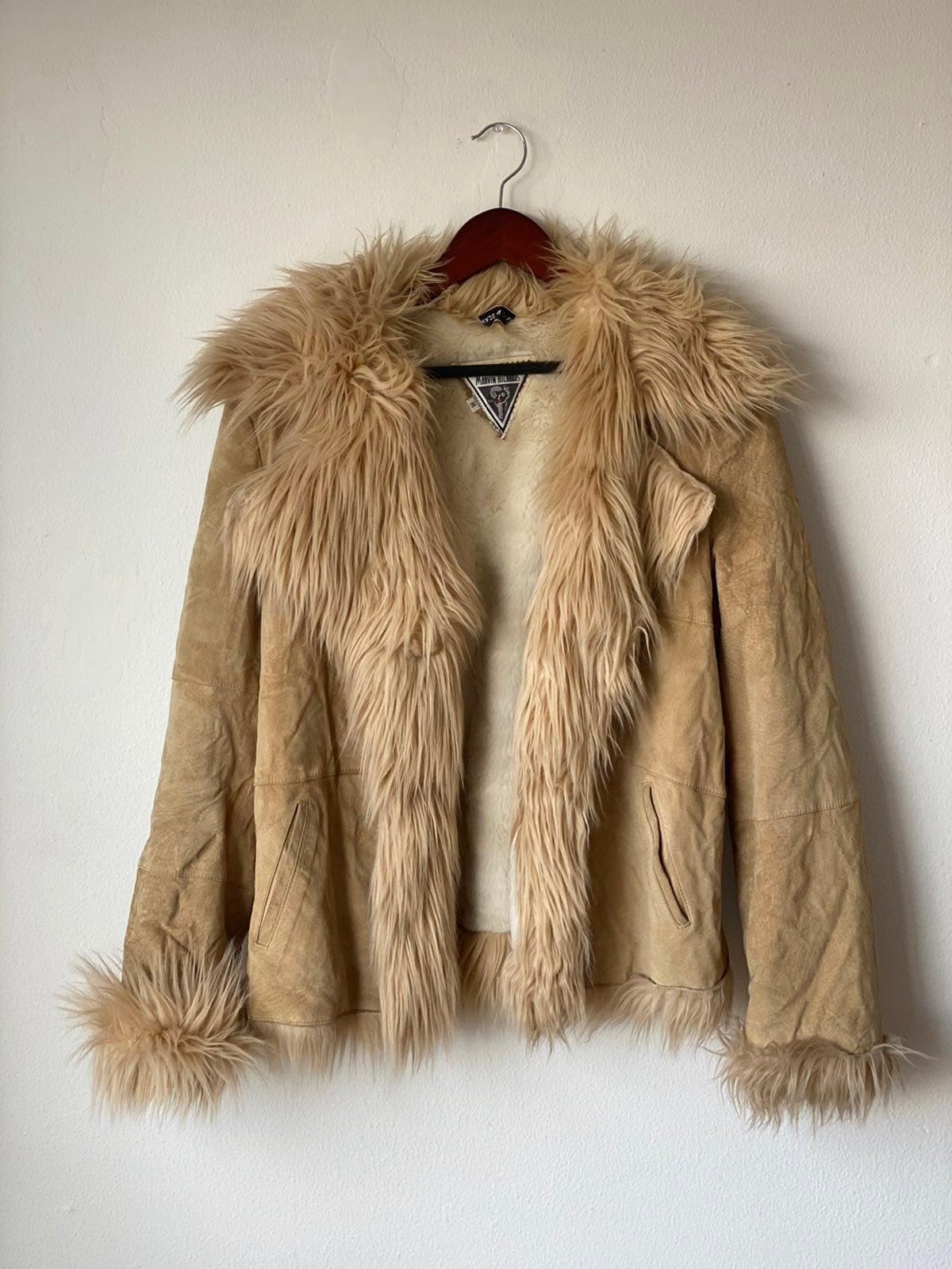 Vtg Marvin Richards Womens Faux Fur Coat