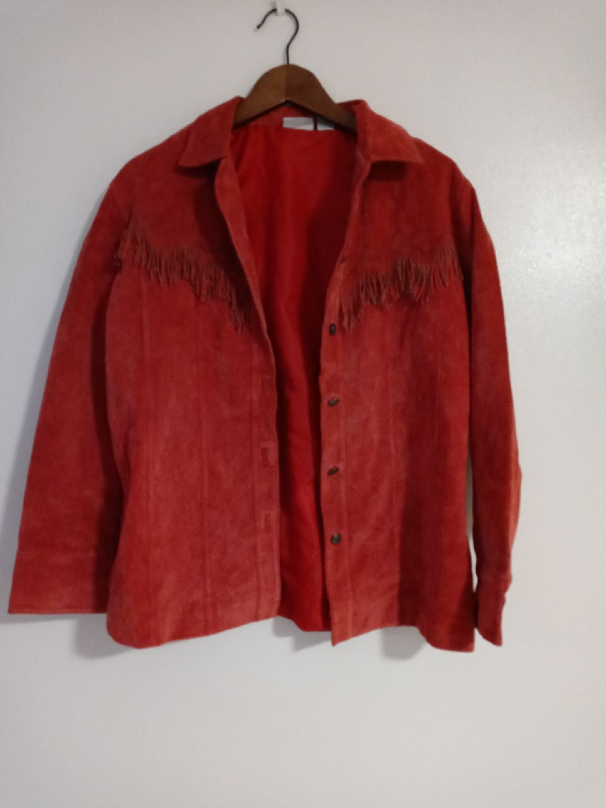 Chico's pink leather jacket size L adult