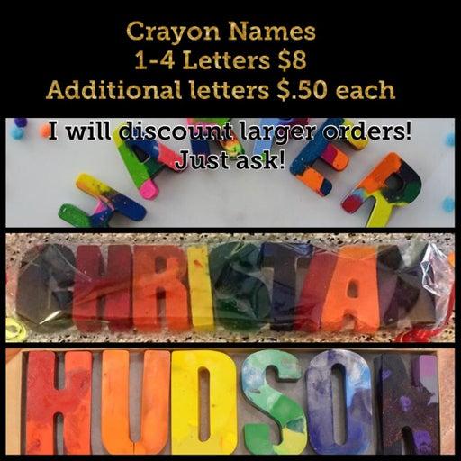 Valentine Name Crayons!