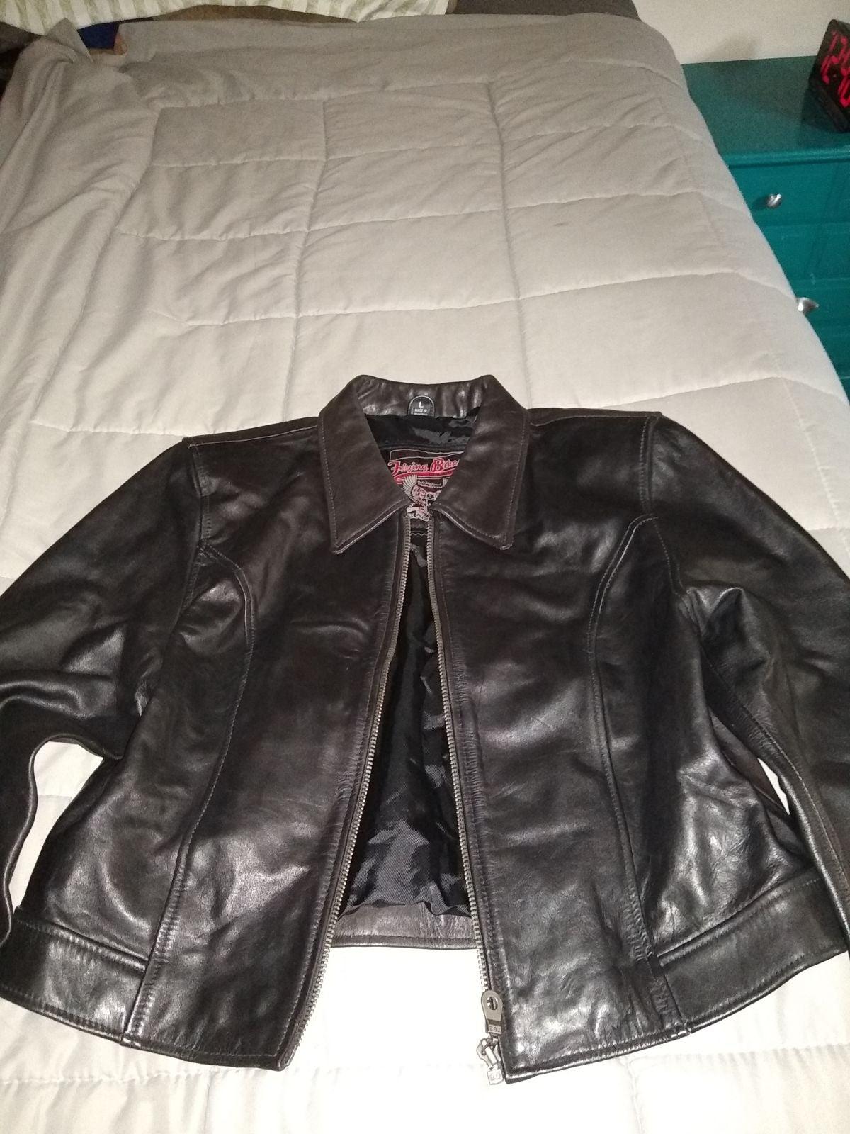 Women's Genuine Leather Jacket L