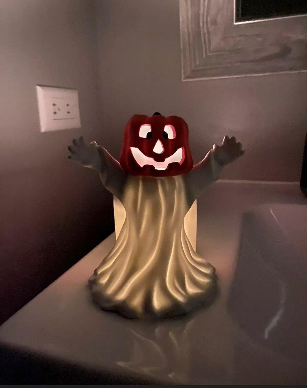 Vintage bisque JOL ghost tealight votive