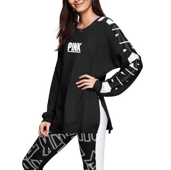 VS PINK Varsity Crew Pullover Sweatshirt