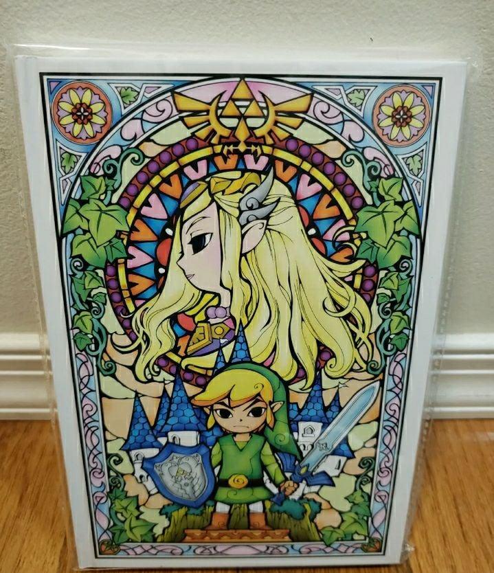 Nintendo Journal Stainglass Themed Zelda