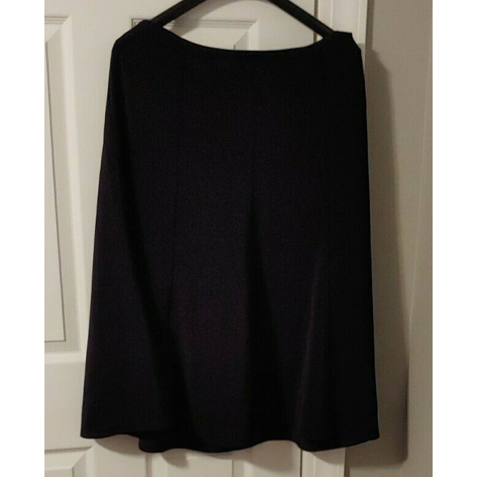 NWT WHBM Black Skirt Flare Side Zip 14