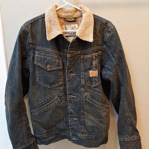 Vintage Volcom Workwear Denim Bomber Jac