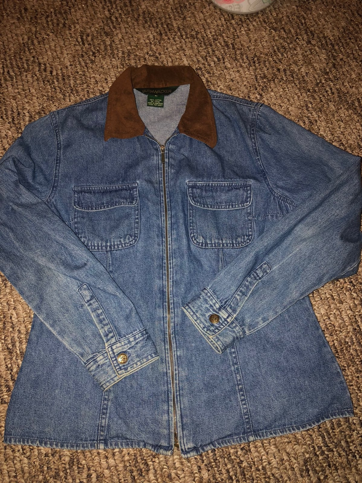 light weight blue jean pullover