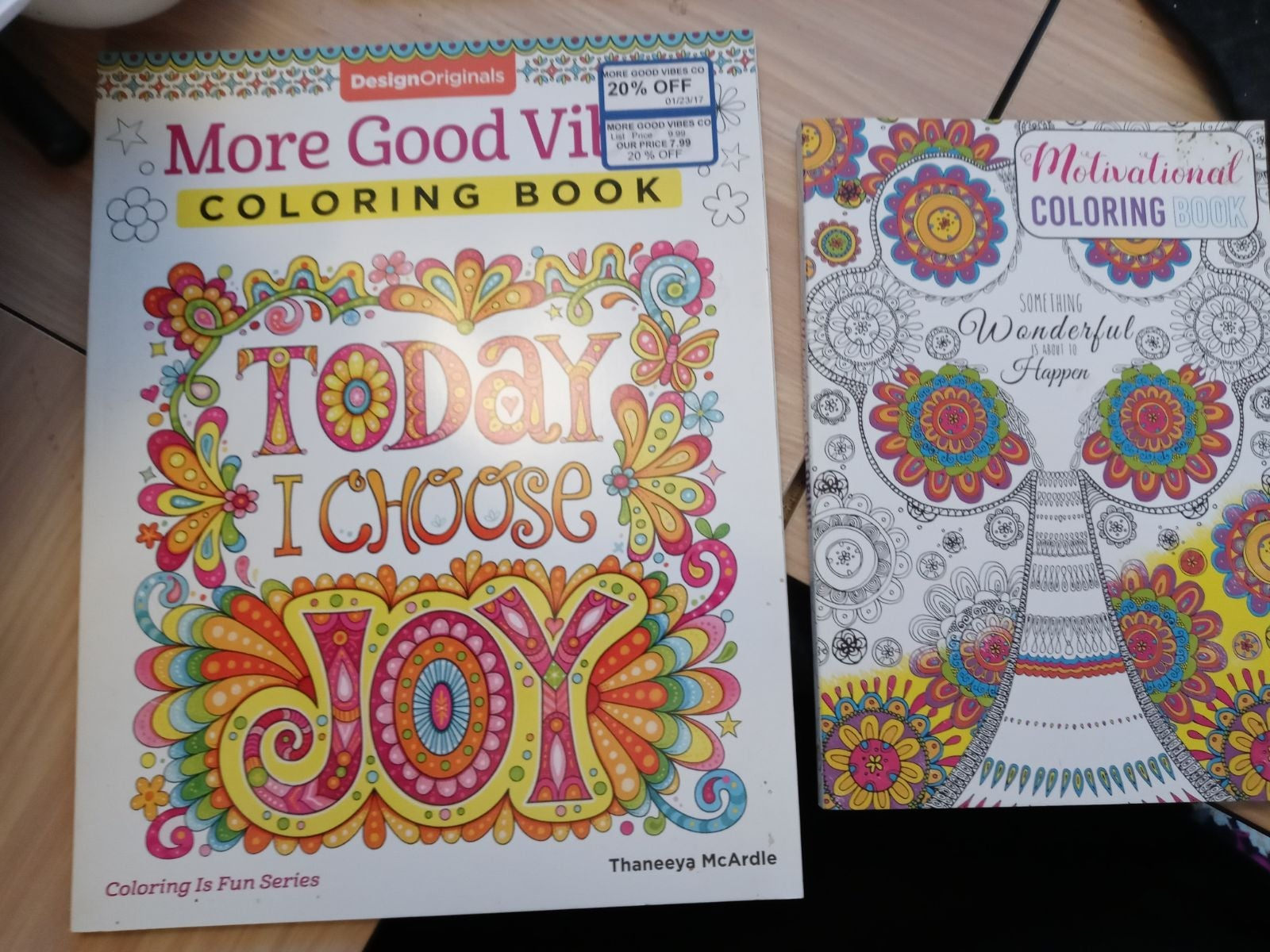 2 Motivational Adult Coloring Books