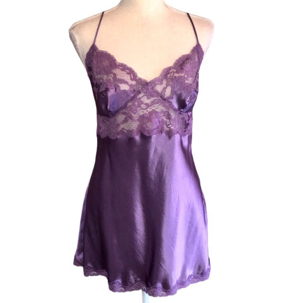 VS Silk Lace Chemise Nightgown Slip
