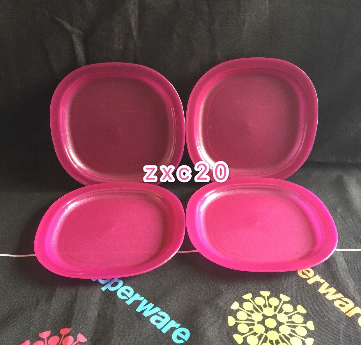 Tupperware Luncheon Plates Set of 4 New