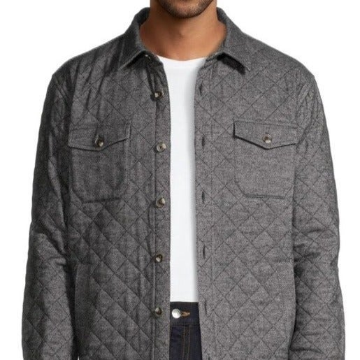 George Men's Quilted Shirt Jacket