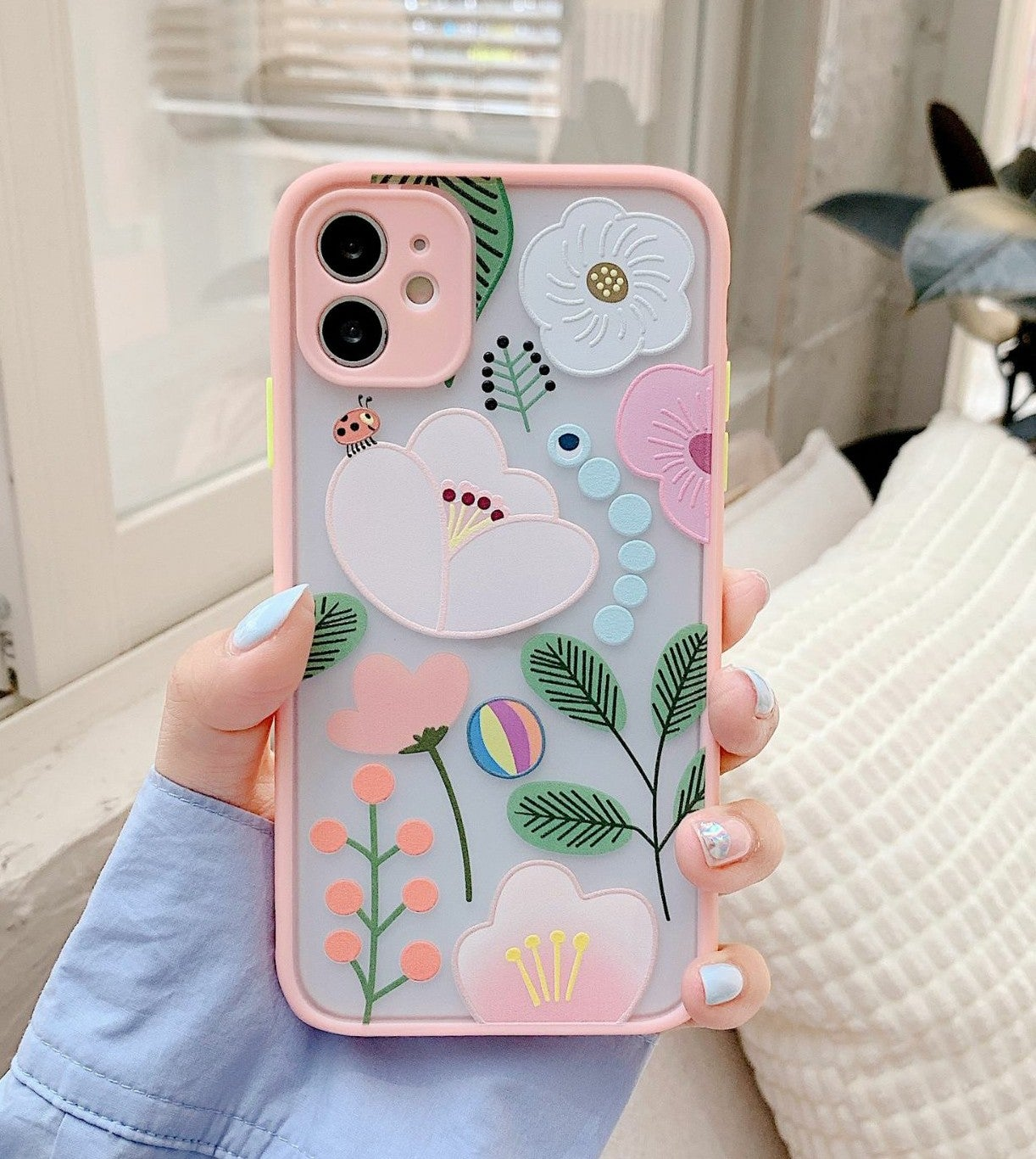 iPhone 12 Pro Max Case floral Hybrid
