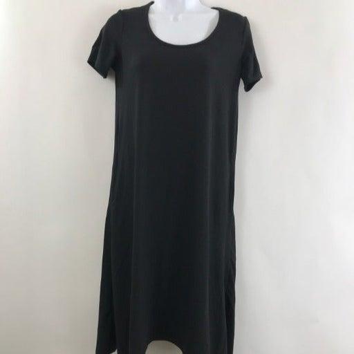 Cuddl Duds black Handkerchief Dress XS