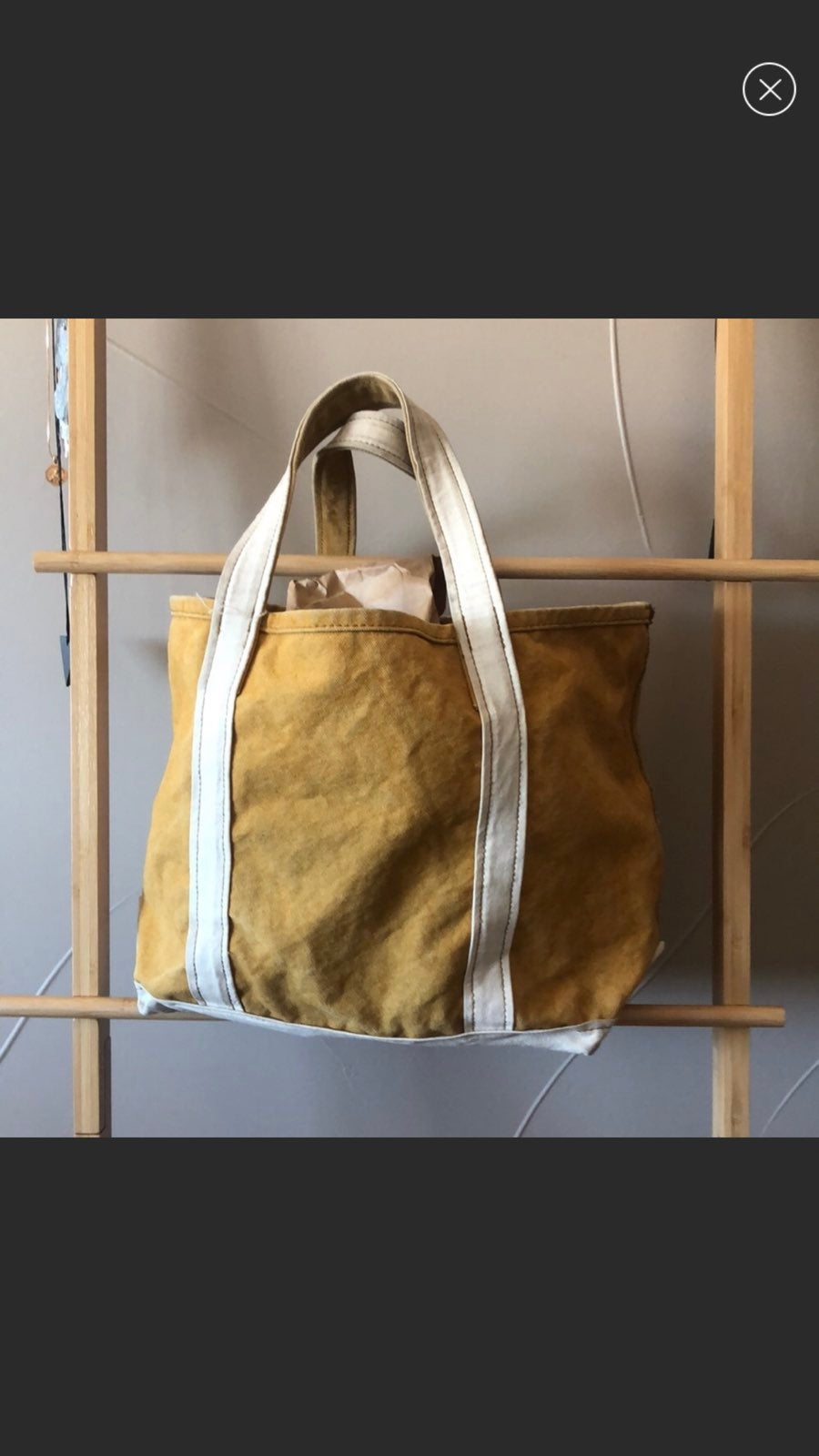 UO Cotton Canvas Moss Tote Bag