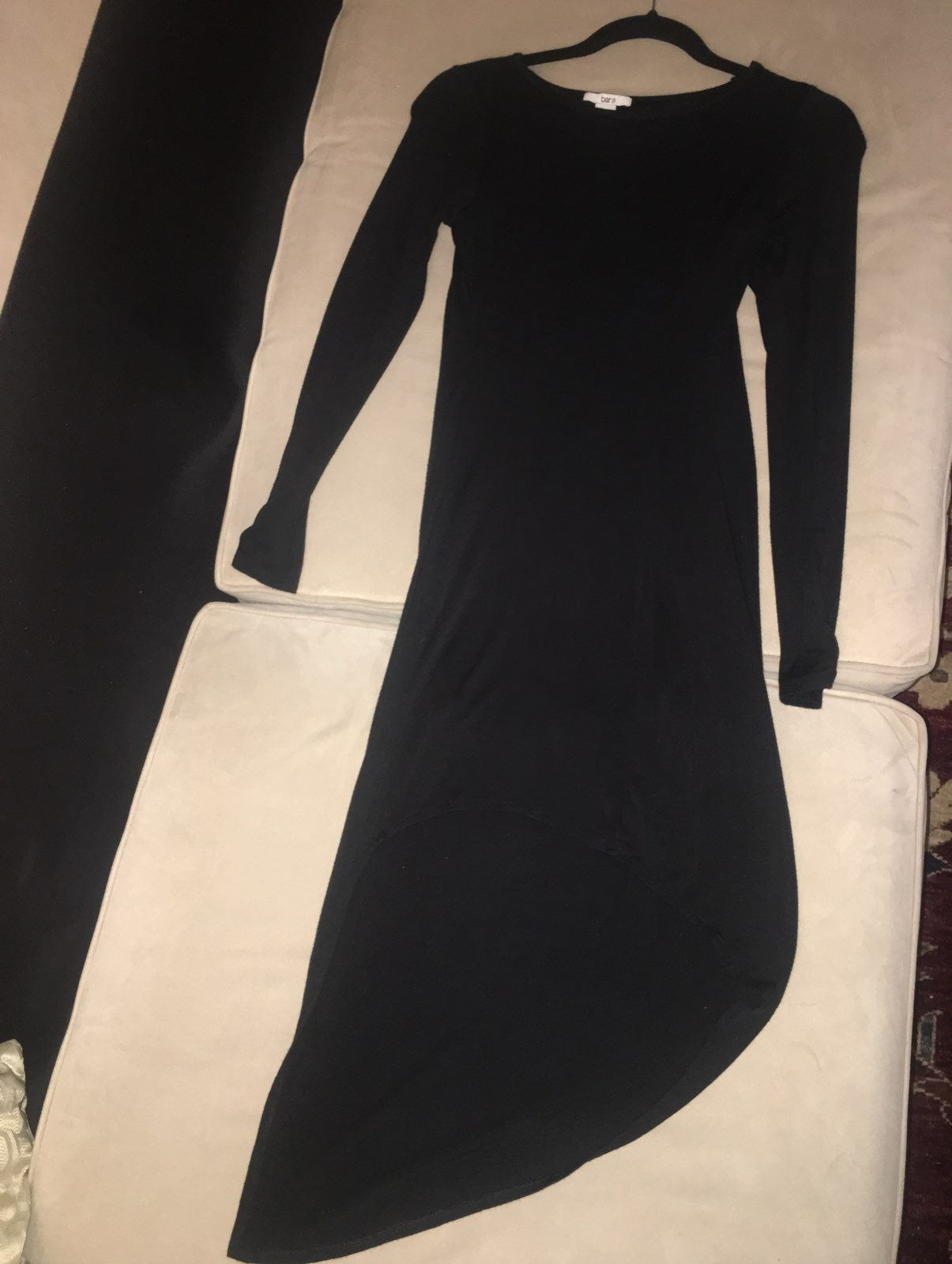 Black assymetrical dress small