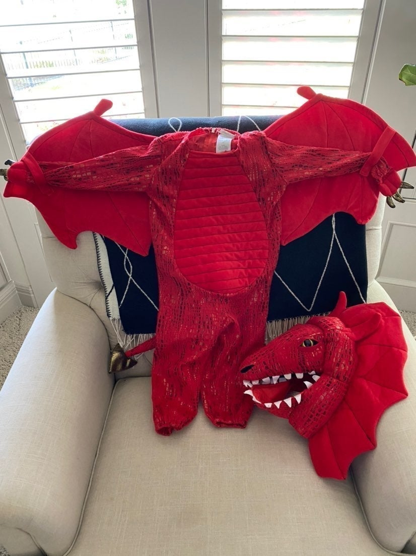 Pottery Barn 3T Red Dragon Costume