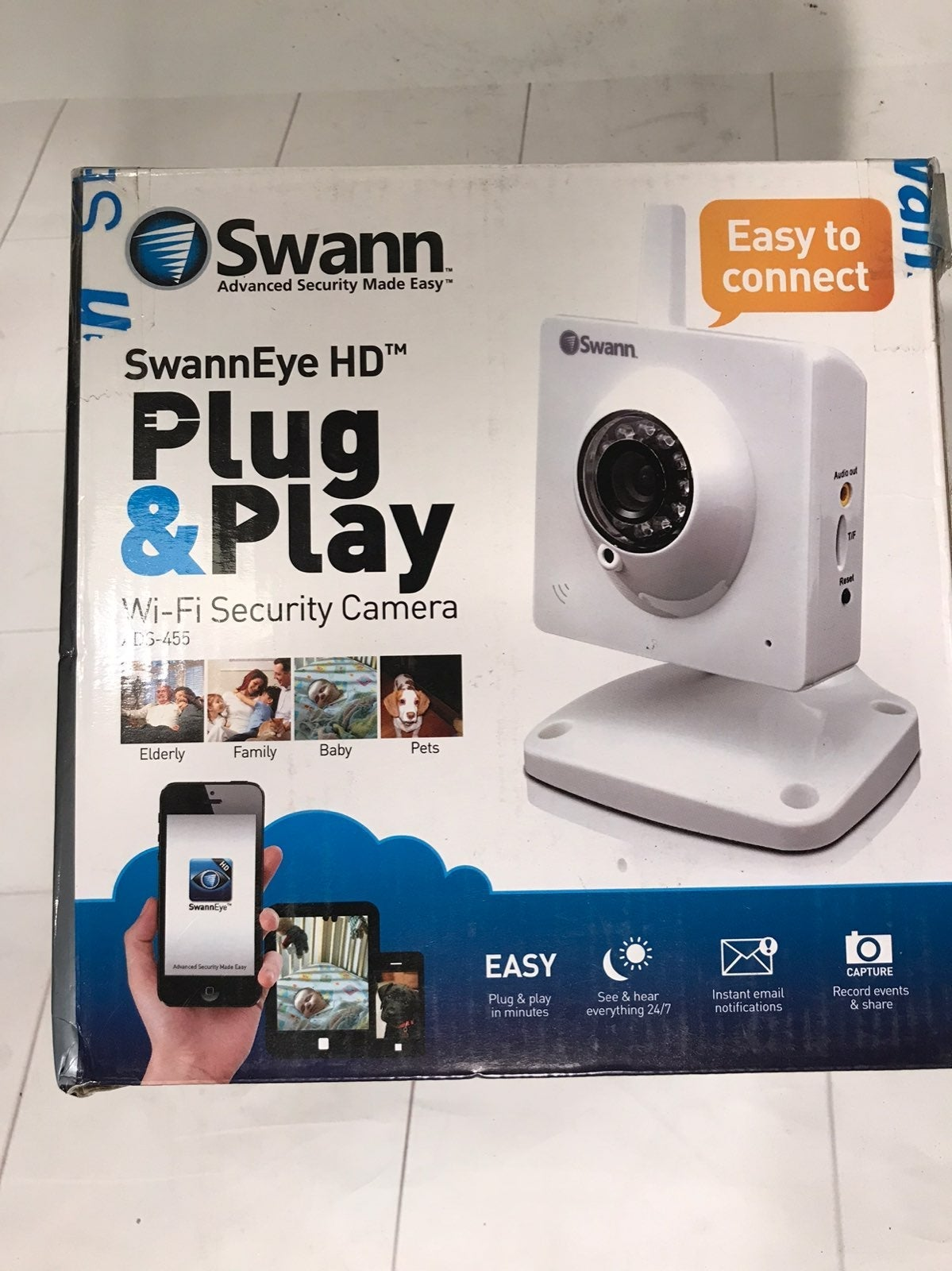 Swann Plug & Play Wi-Fi Security Camera