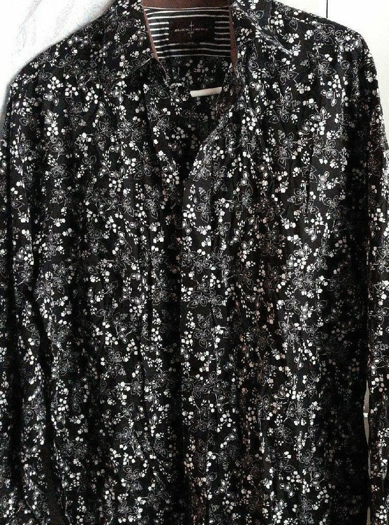 100% Cotton Long Sleeve Shirt Floral Bl