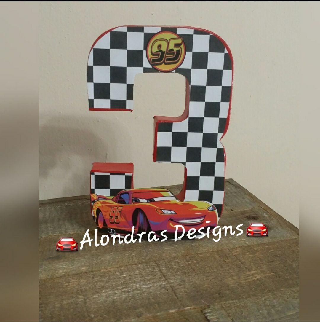 Cars birthday number
