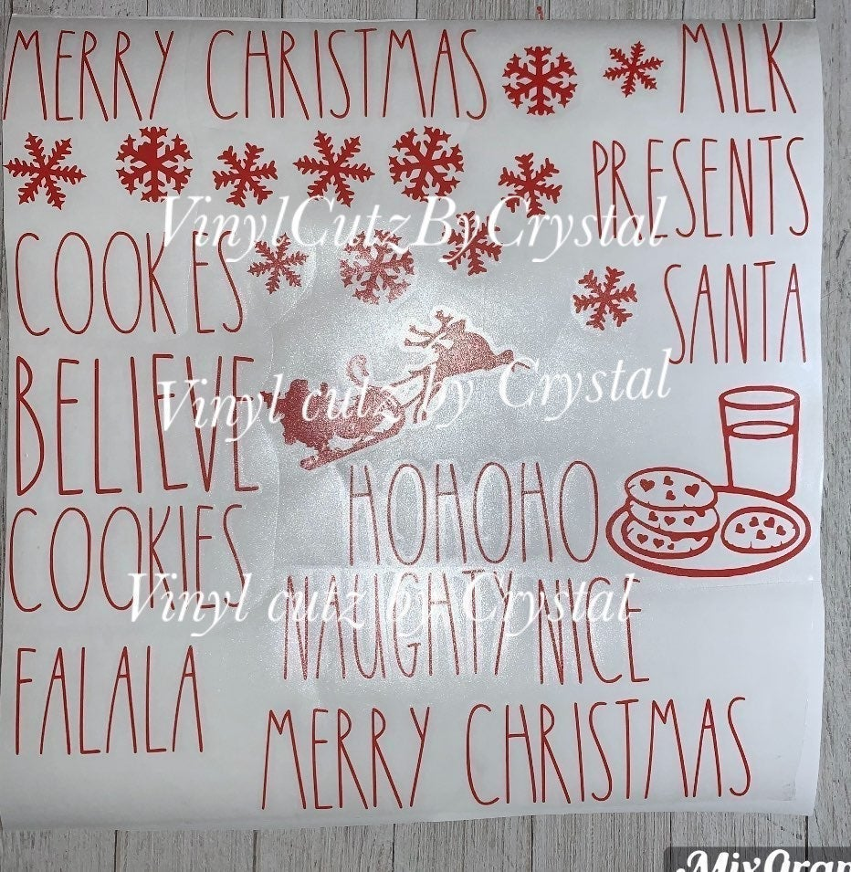 Red Christmas Decals