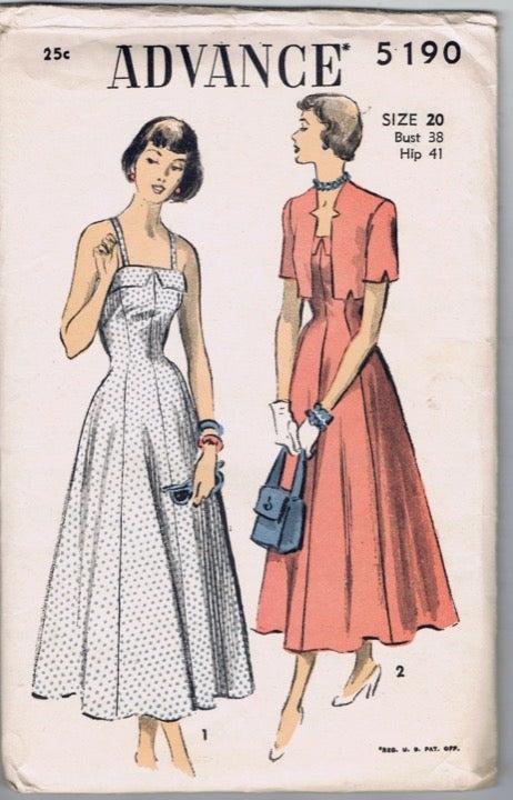 1940s Advance Pattern 5190 Sundress 20