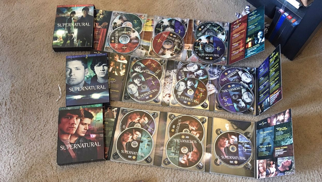 Supernatural seasons 1,2,3