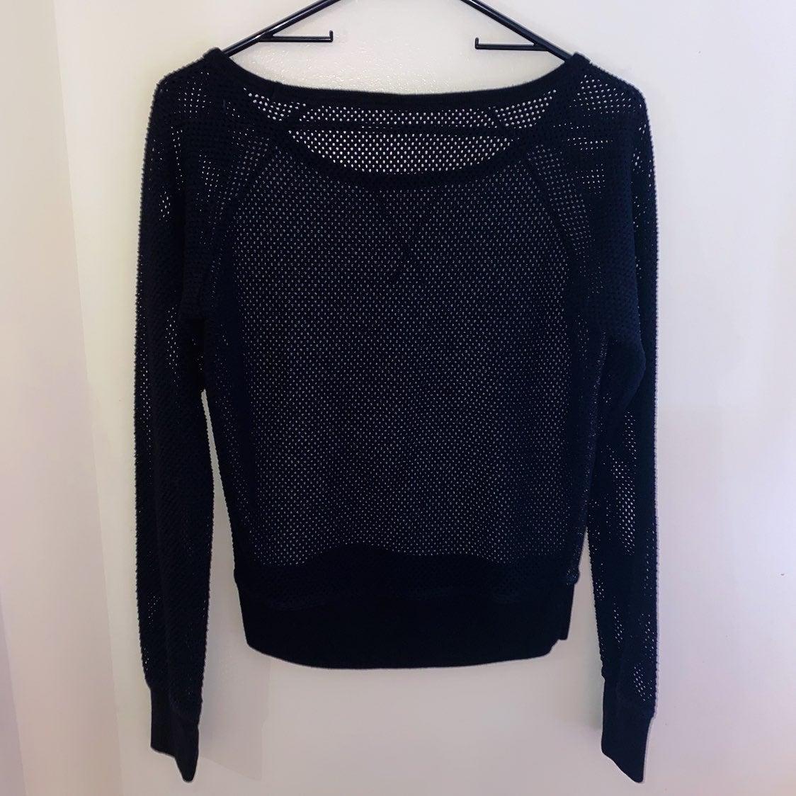 Lorna Jane black mesh sweatshirt