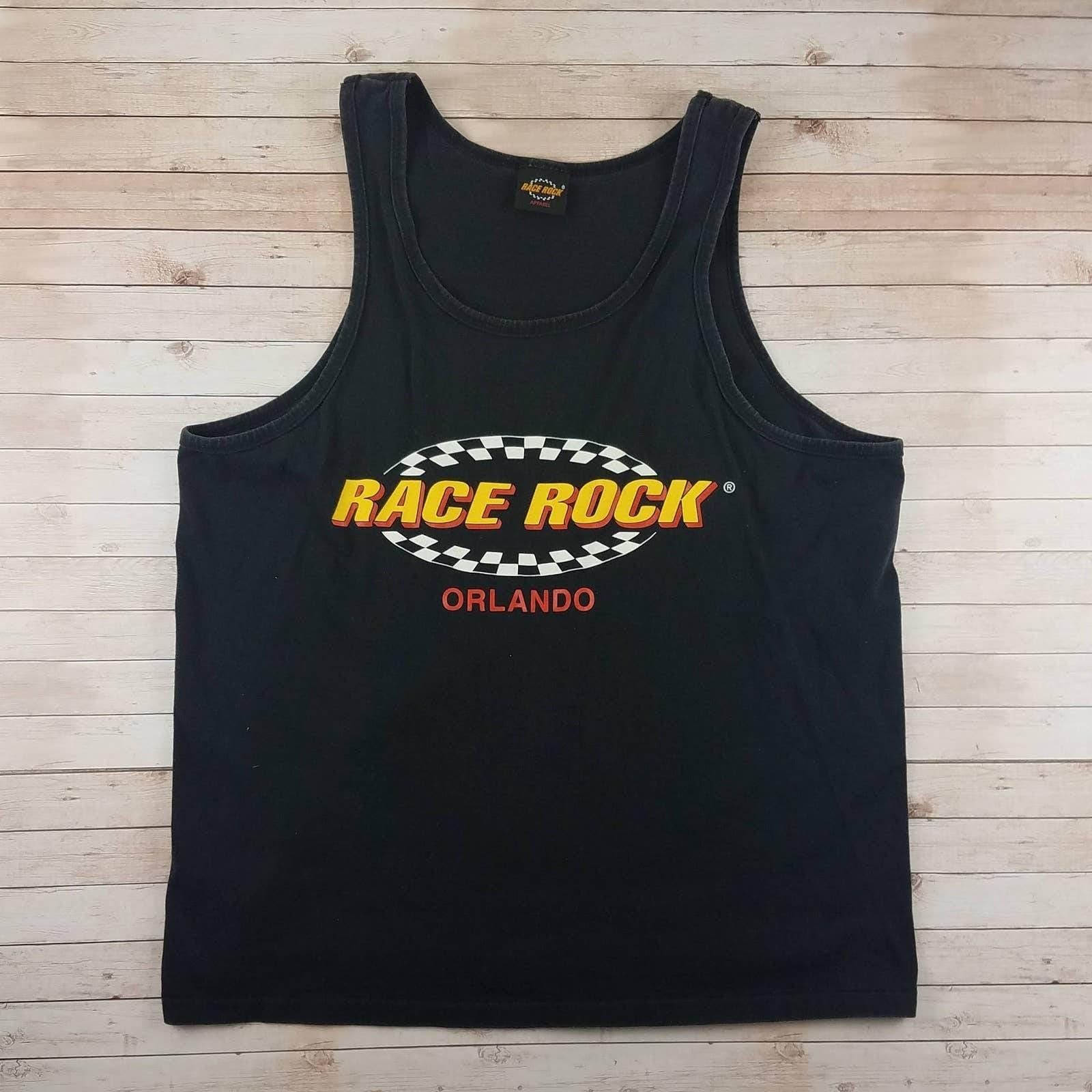 VTG 90s Race Rock Single Stitch Tank Top