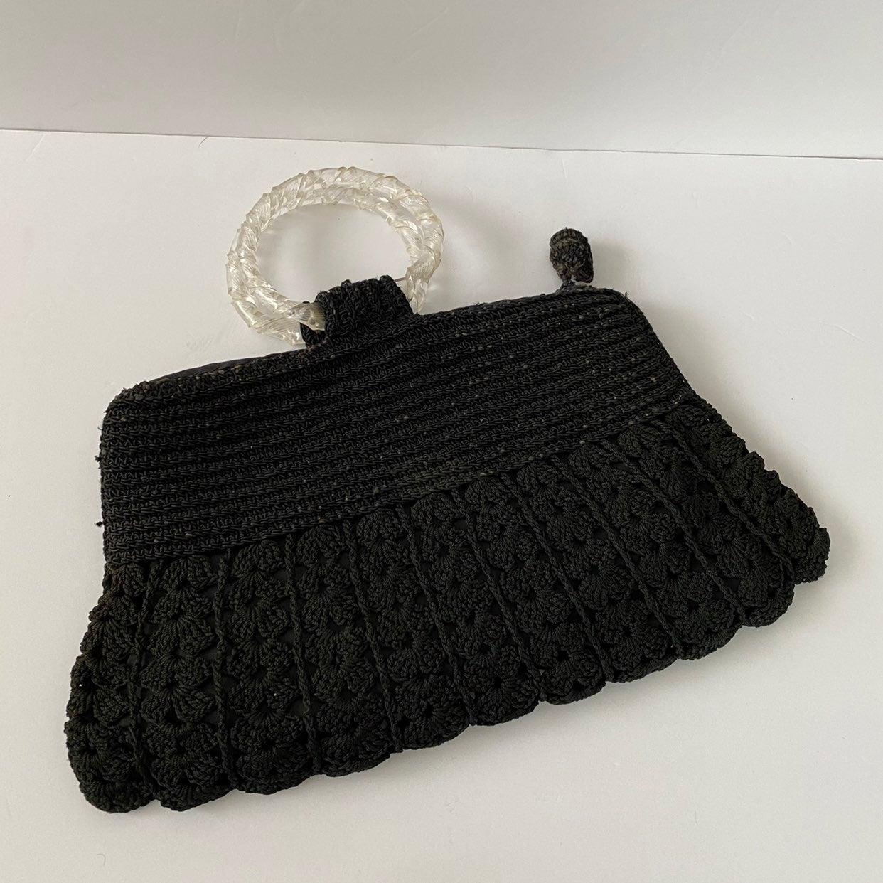 Vintage 40s CordeLucite Handbag Purse