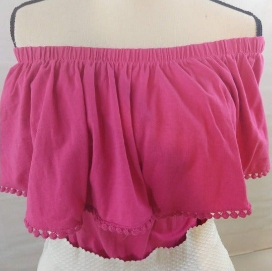 D & Co. Ruffle Top - Pink - XL  (QVC)