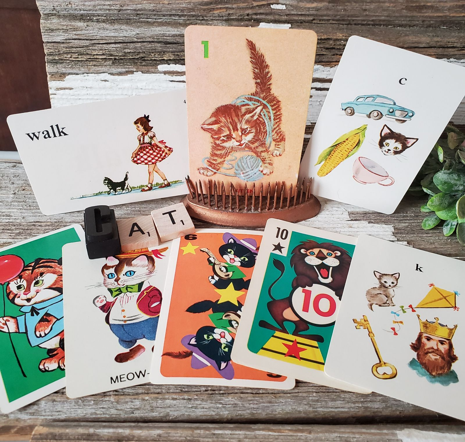 Vintage Ephemera/Game Cards - Cat