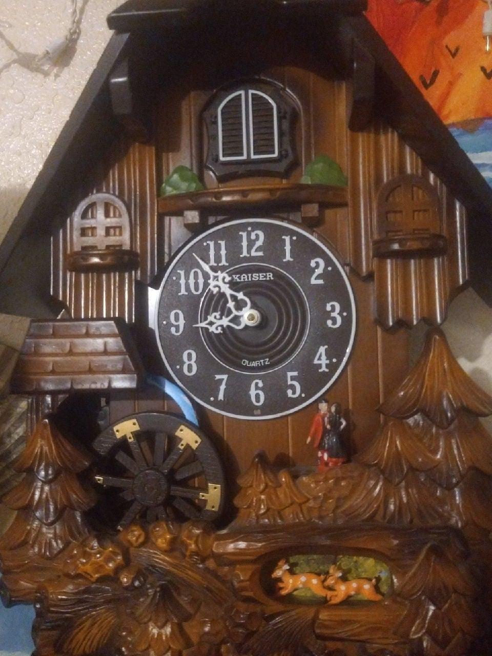 Handmade wooden kaiser Cuckoo clock