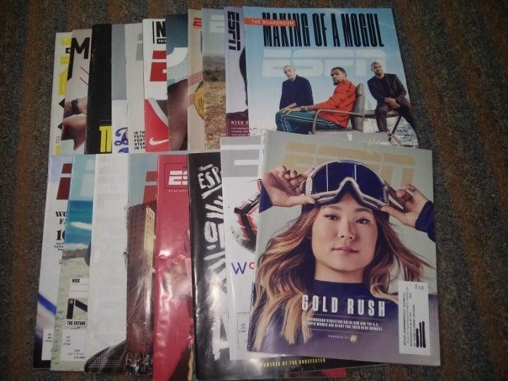 ESPN Magazine Lot of 22 plus freebie
