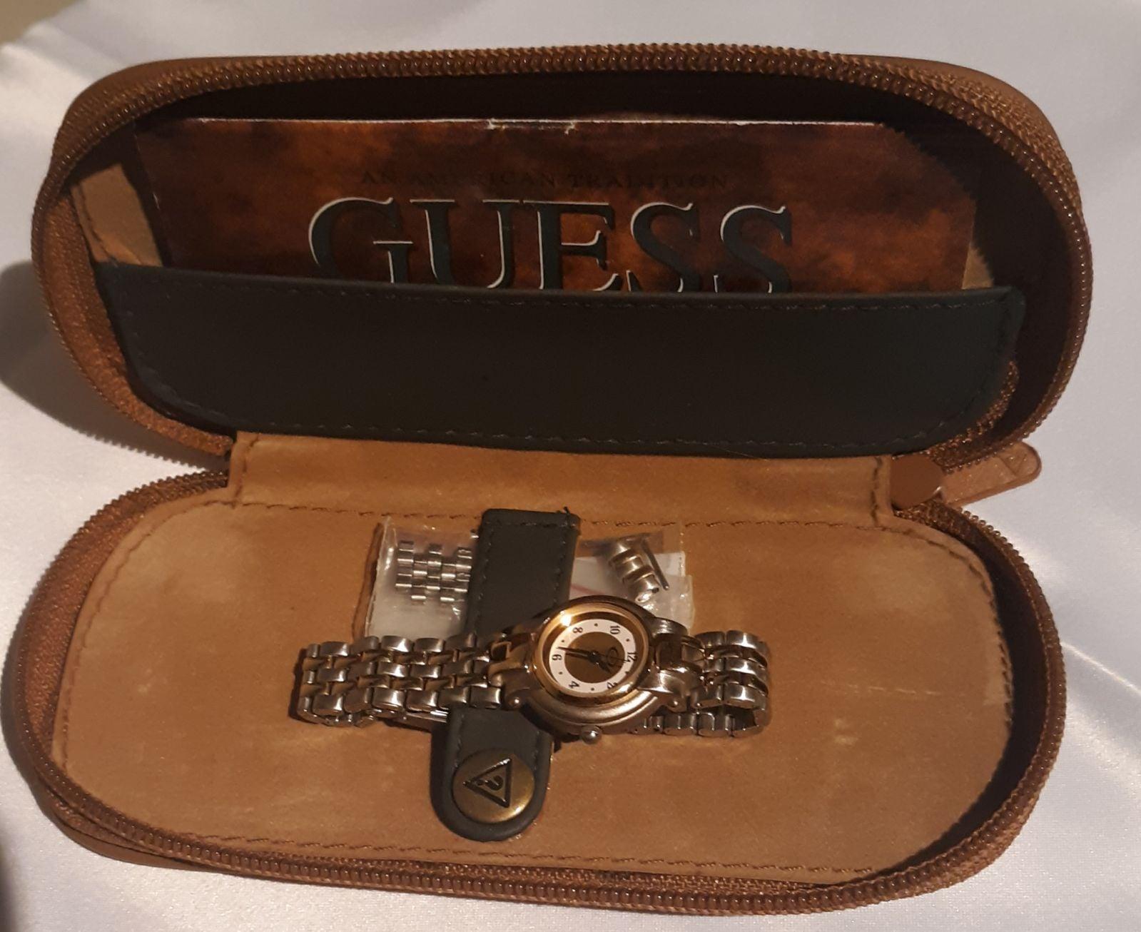 Authentic Vintage Guess watch & case