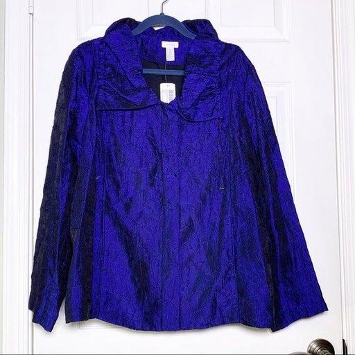 NWT Chico's Textured Ellie Jacket