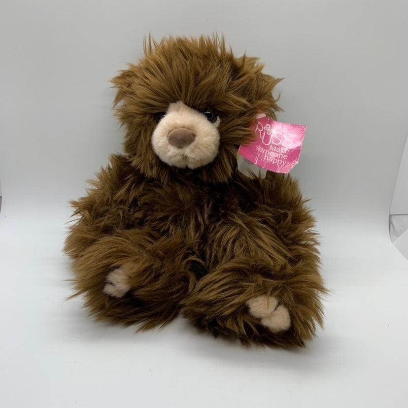 "Russ Berrie Teddy Bear Ewan 11"" brown"